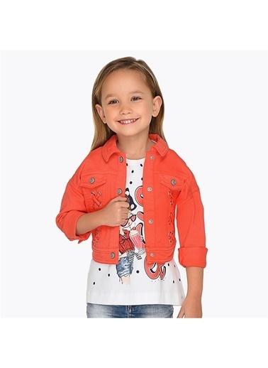 Mayoral Mayoral Kız Çocuk Kanvas Ceket Kırmızı